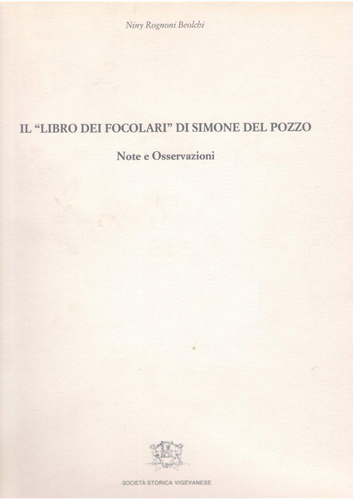 """Il  """"Libro dei Focolari""""di Simone Del Pozzo"""