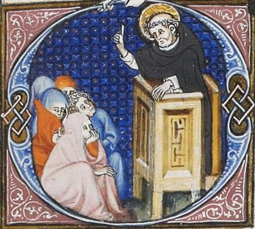 Il predicatore- Bréviaire de Belleville (folio 271r), Parigi, Bliothèque nationale