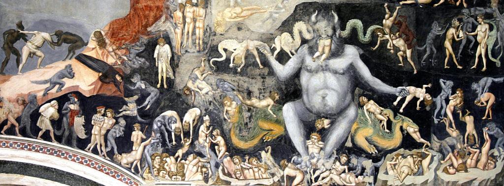 I terrori dell'anno mille -Giotto, Giudizio universale Inferno-Padova, Cappella degli Scrovegni