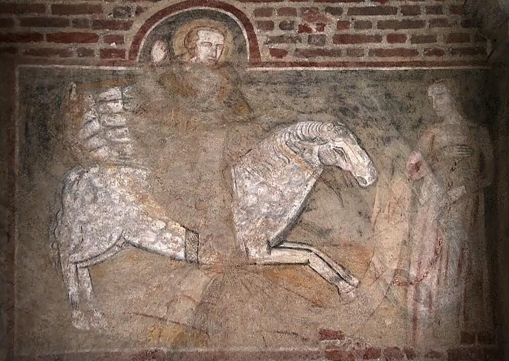 San Giorgio ed il drago - Chiesa di San Giorgio, Vigevano, prima metà XV sec.