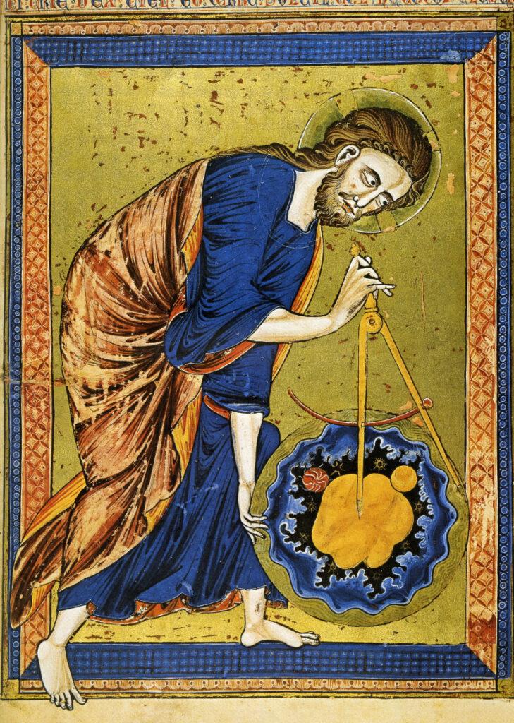 Dio creatore dell'Universo - Codex Vindobonensis-2554 -Wienna, Osterreichischen Nationalbibliothe